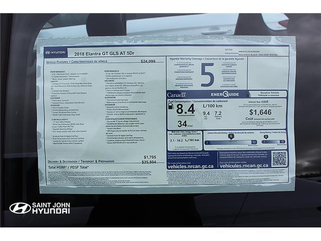 2018 Hyundai Elantra GT GLS (Stk: 82620) in Saint John - Image 2 of 4