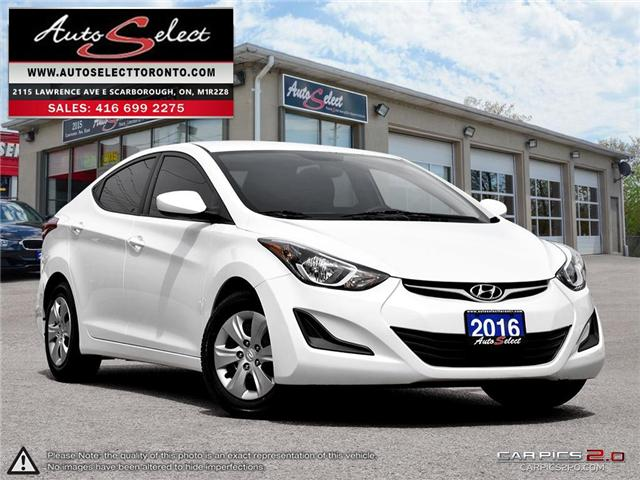 2016 Hyundai Elantra  (Stk: 16EHL321) in Scarborough - Image 1 of 27