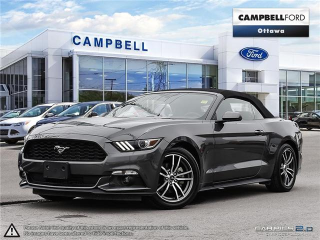 2017 Ford Mustang EcoBoost Premium CONVERTIBLE-LEATHER-NAV-LOW KMS (Stk: 941320) in Ottawa - Image 1 of 30