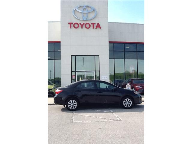 2016 Toyota Corolla LE (Stk: ) in Owen Sound - Image 1 of 2