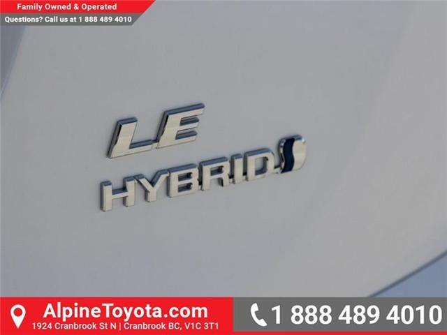 2018 Toyota RAV4 Hybrid LE+ (Stk: D216822) in Cranbrook - Image 15 of 16