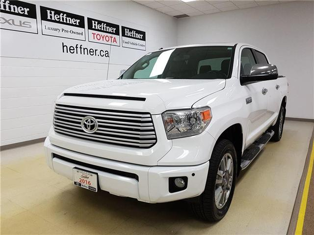 2016 Toyota Tundra Platinum 5.7L V8 (Stk: 185565) in Kitchener - Image 1 of 22