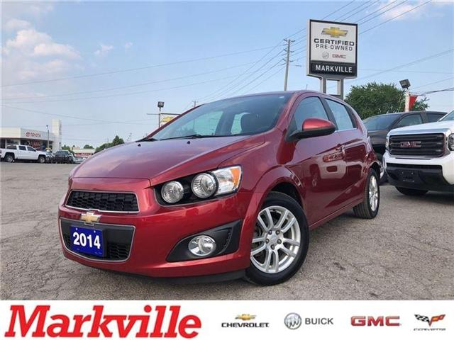 2014 Chevrolet Sonic LT-POWER SUNROOF-GM CERTIFIED PRE-OWNED-1 OWNER (Stk: P6212) in Markham - Image 1 of 22