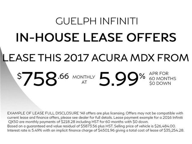 2017 Acura MDX Technology Package (Stk: I6586A) in Guelph - Image 2 of 25