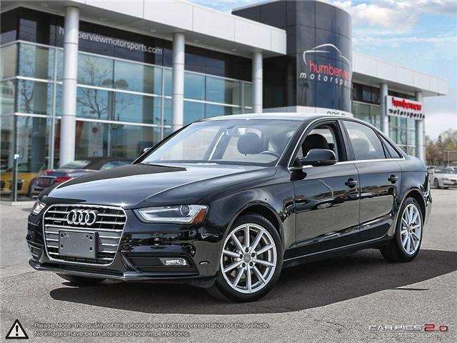 2014 Audi A4 2.0 Progressiv (Stk: 18HMS313) in Mississauga - Image 1 of 27