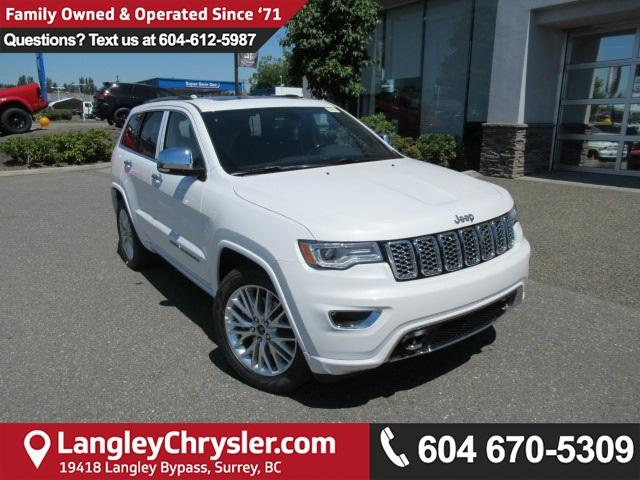2018 Jeep Grand Cherokee Overland (Stk: J422565) in Surrey - Image 1 of 7