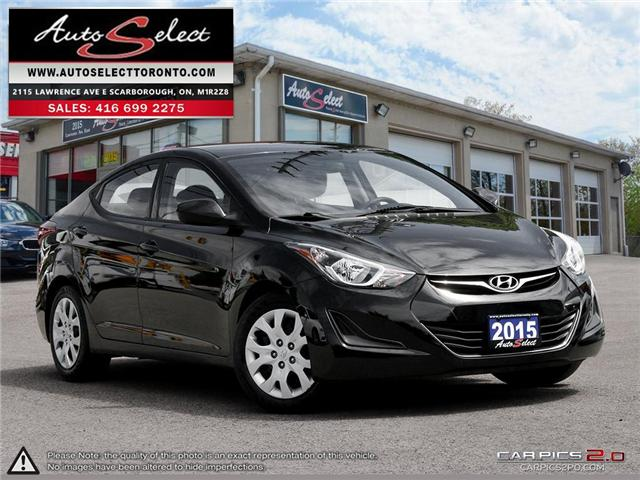 2015 Hyundai Elantra  (Stk: 15QS641) in Scarborough - Image 1 of 27