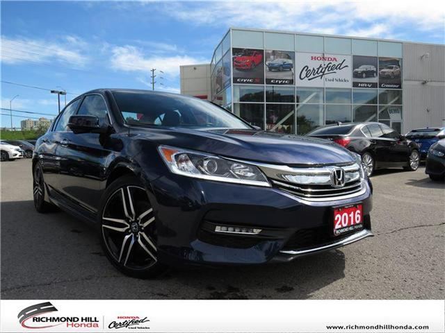 2016 Honda Accord Sport (Stk: 1981P) in Richmond Hill - Image 1 of 15