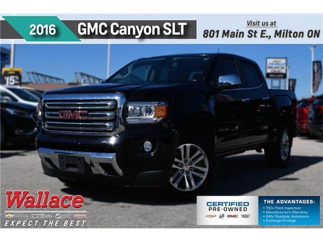 2016 GMC Canyon SLT/V6/HD TRAILR PKG/4WD/G80/HTD SEATS (Stk: 123189A) in Milton - Image 1 of 21