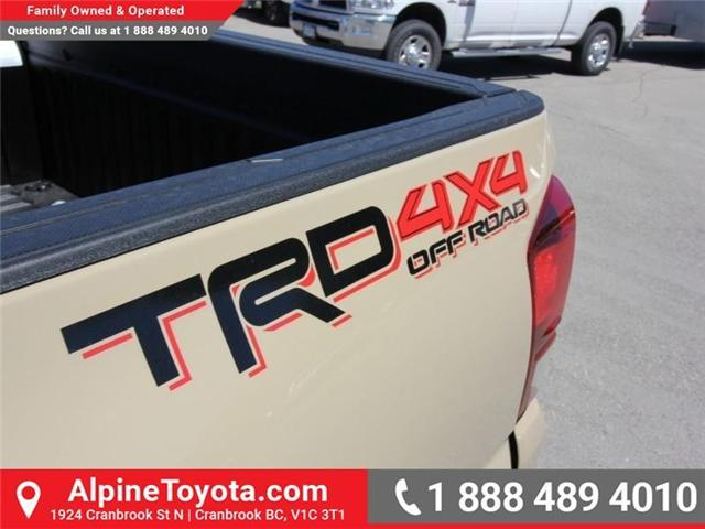 2018 Toyota Tacoma TRD Off Road (Stk: X151380) in Cranbrook - Image 16 of 17