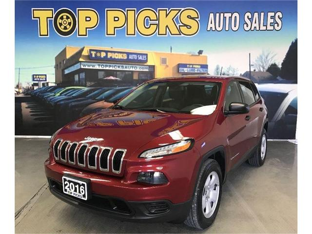 2016 Jeep Cherokee Sport (Stk: 334034) in NORTH BAY - Image 1 of 17