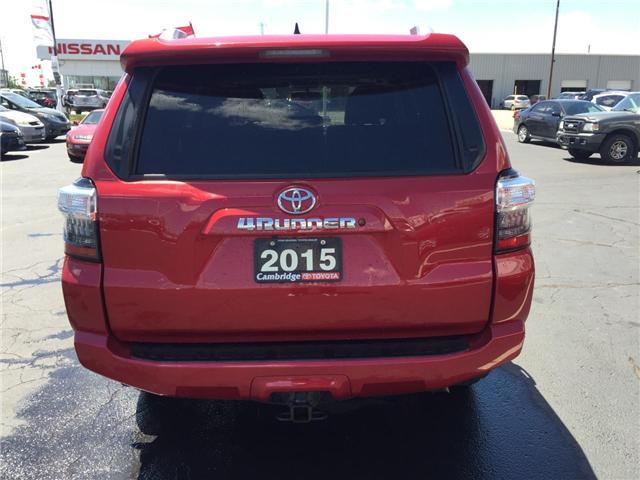 2015 Toyota 4Runner SR5 V6 (Stk: 1808221) in Cambridge - Image 7 of 13