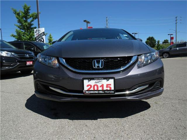 2015 Honda Civic EX (Stk: 2012P) in Richmond Hill - Image 2 of 17