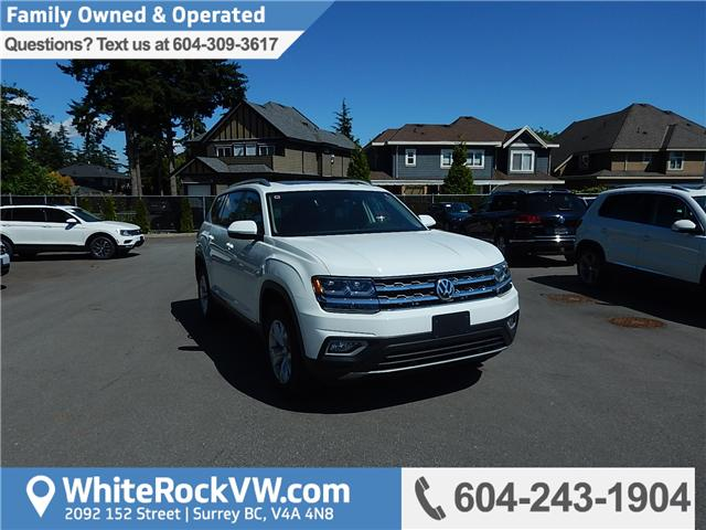 2018 Volkswagen Atlas 3.6 FSI Highline (Stk: JA563731) in Surrey - Image 1 of 28
