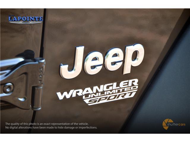 2018 Jeep Wrangler Unlimited Sport (Stk: 18273) in Pembroke - Image 6 of 20
