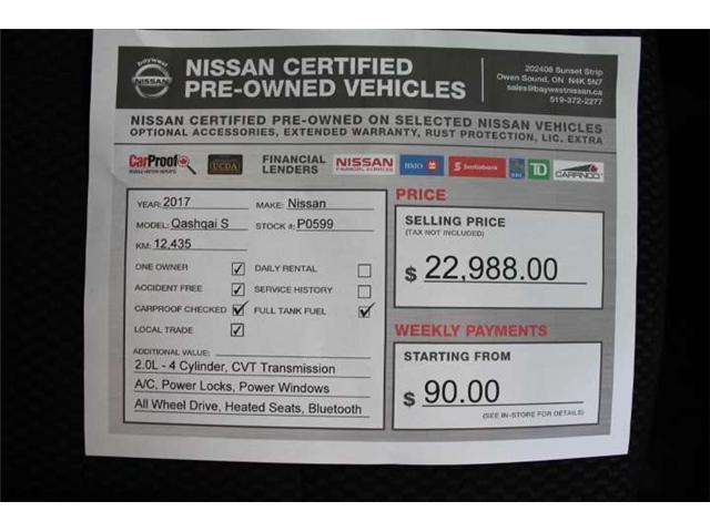 2017 Nissan Qashqai S (Stk: P0599) in Owen Sound - Image 14 of 14