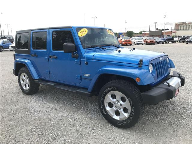 2014 Jeep Wrangler Unlimited Sahara 4X4 Hard And Soft Tops (Stk: 181192A)  In ...