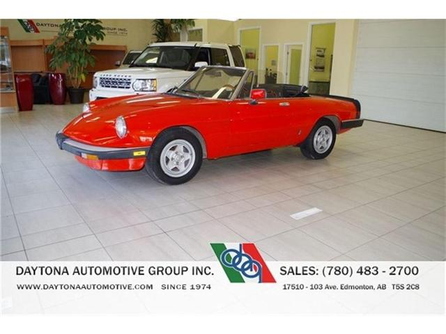 1984 Alfa Romeo Spider 2.0L FUEL INJECTED (Stk: 9843) in Edmonton - Image 1 of 12