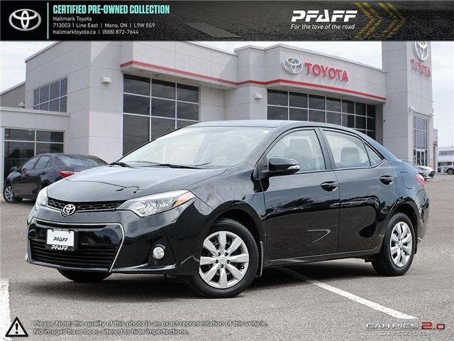 2015 Toyota Corolla 4-door Sedan S 6M (Stk: H18739A) in Orangeville - Image 1 of 30