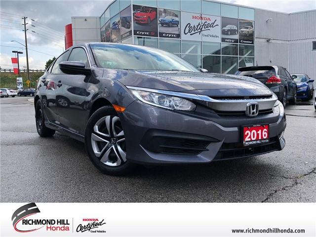 2016 Honda Civic LX (Stk: 181236A) in Richmond Hill - Image 1 of 18