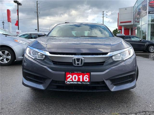 2016 Honda Civic LX (Stk: 181236A) in Richmond Hill - Image 2 of 18