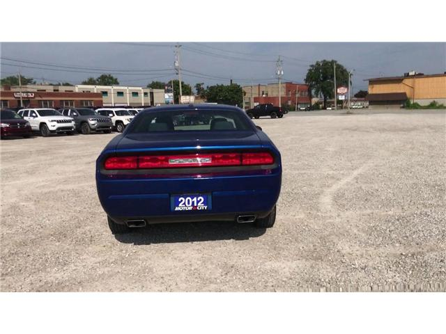 2012 Dodge Challenger SXT Low K's Cruise Satellite Radio Connectivity (Stk: 1959A) in Windsor - Image 7 of 11