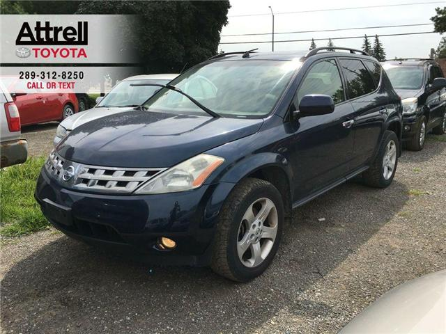 2004 Nissan Murano SL AWD ALLOY WHEELS, ABS, POWER DRIVER SEAT, SUNRO (Stk: 39680A) in Brampton - Image 1 of 12