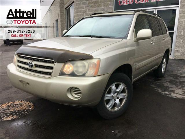 2003 Toyota Highlander 4WD V6 B PKG LEATHER, ALLOY WHEELS, POWER DRIVER S (Stk: 41100A) in Brampton - Image 1 of 23