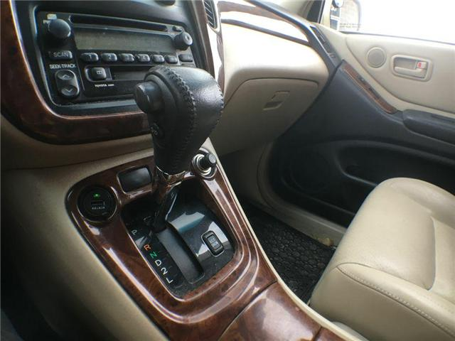 2003 Toyota Highlander BOXING DAY ONLY 4WD V6 B PKG LEATHER, ALLOY WHEELS (Stk: 41100A) in Brampton - Image 13 of 23