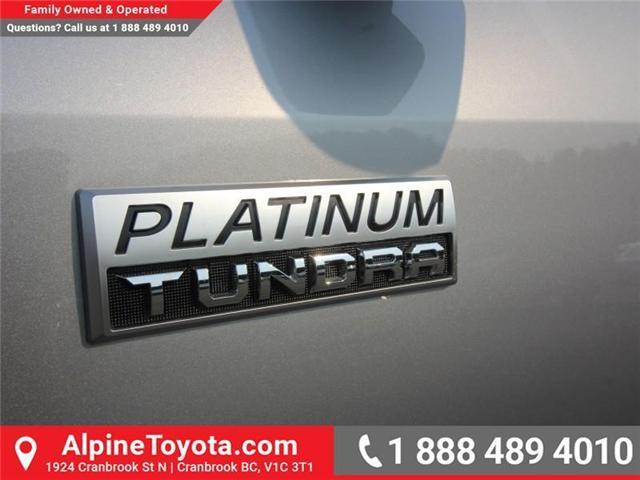 2018 Toyota Tundra Platinum 5.7L V8 (Stk: X768979) in Cranbrook - Image 16 of 17