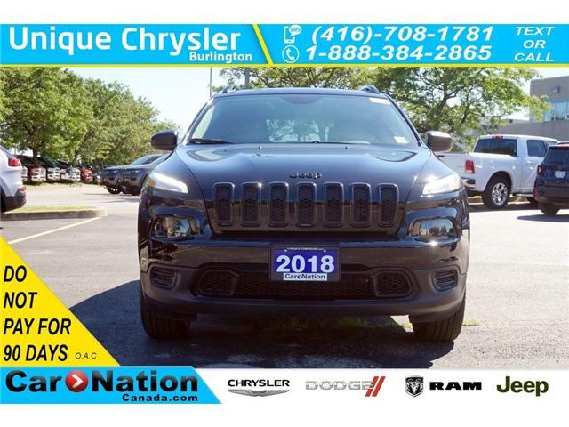 2018 Jeep Cherokee SPORT| ALTITUDE| 4X4| COLD WEATHER GRP| REAR CAM (Stk: J296L) in Burlington - Image 2 of 30