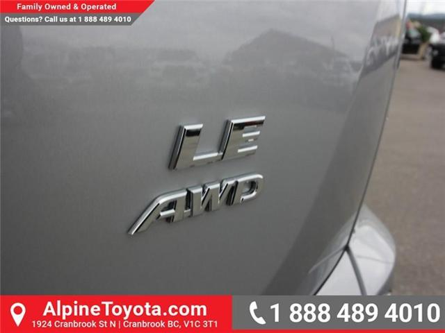2018 Toyota RAV4 LE (Stk: W826642) in Cranbrook - Image 17 of 18