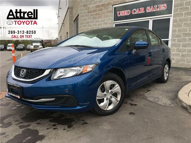 2015 Honda CIVIC SEDAN LX HEATED SEATS, BLUETOOTH, BACK UP CAMERA, ABS, K (Stk: 41178A) in Brampton - Image 1 of 27