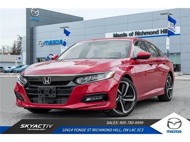 2018 Honda Accord Sport (Stk: 19-065DTA) in Richmond Hill - Image 1 of 20