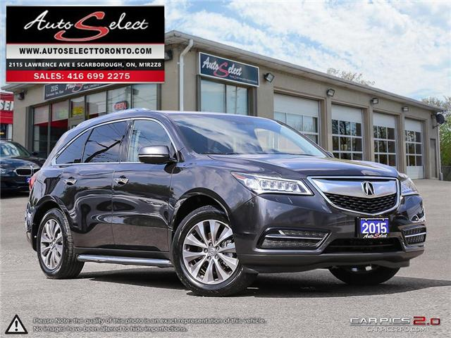 2015 Acura MDX 7-Passenger (Stk: 15AG7PX1) in Scarborough - Image 1 of 29