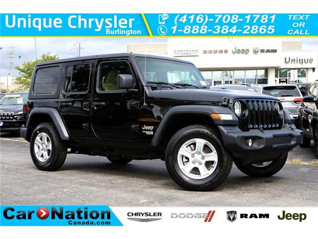 2018 Jeep Wrangler UNLIMITED SPORT| 6-SPD M/T| REAR CAM| ANDROID AUTO (Stk: NOU-103064-J774) in Burlington - Image 1 of 30