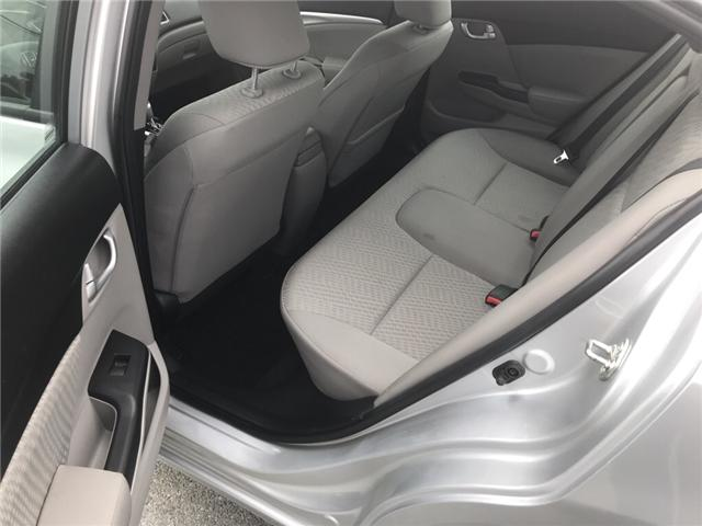 2015 Honda Civic EX (Stk: U54591) in Lower Sackville - Image 9 of 16