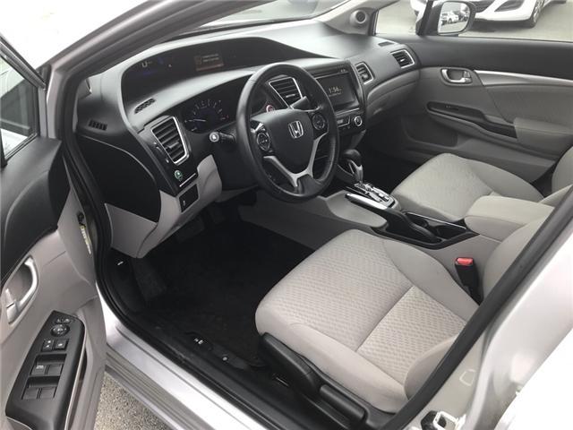 2015 Honda Civic EX (Stk: U54591) in Lower Sackville - Image 10 of 16