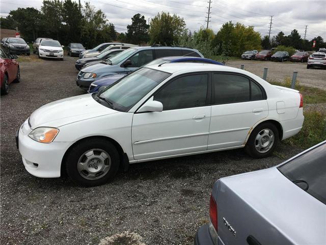 2003 Honda Civic Sedan HYBRID SEDAN ALLOY WHEELS, TINTED WINDOWS, POWER G (Stk: 42257A) in Brampton - Image 7 of 12
