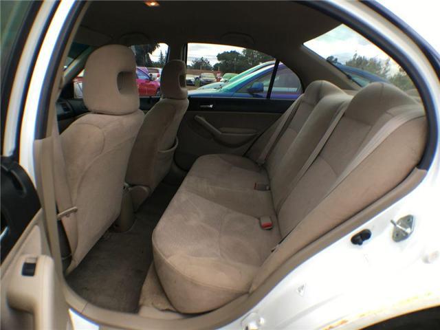 2003 Honda Civic Sedan HYBRID SEDAN ALLOY WHEELS, TINTED WINDOWS, POWER G (Stk: 42257A) in Brampton - Image 8 of 12