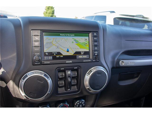 2016 Jeep Wrangler Unlimited Sahara (Stk: EE898320A) in Surrey - Image 16 of 21