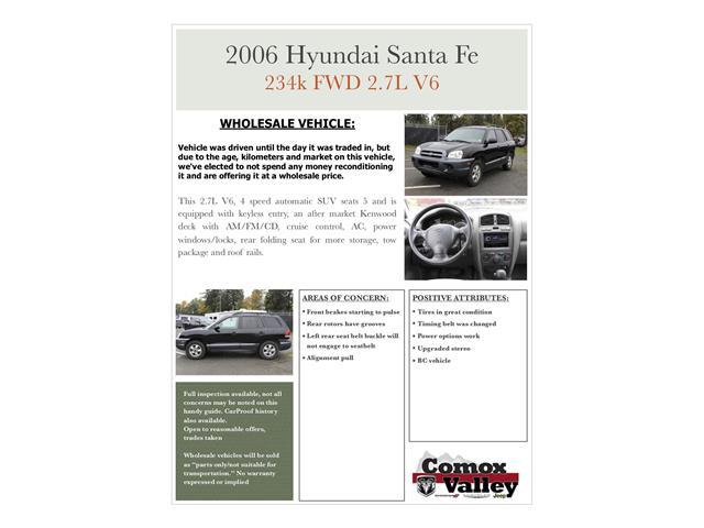 2006 Hyundai Santa Fe GL V6 (Stk: G619028F) in Courtenay - Image 10 of 11