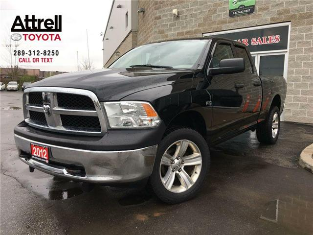2012 RAM 1500 ST 4X4 DOUBLE CAB ALLOY WHEELS, TINT, BED LINER, H (Stk: 42059A) in Brampton - Image 1 of 26