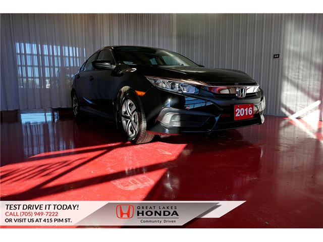 2016 Honda Civic LX (Stk: HP552) in Sault Ste. Marie - Image 1 of 23