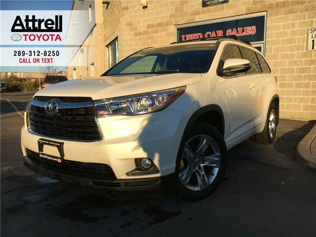 2016 Toyota Highlander NEW YEAR SPECIAL LIMITED AWD LEATHER, SUNROOF, ALL (Stk: 42281A) in Brampton - Image 1 of 29