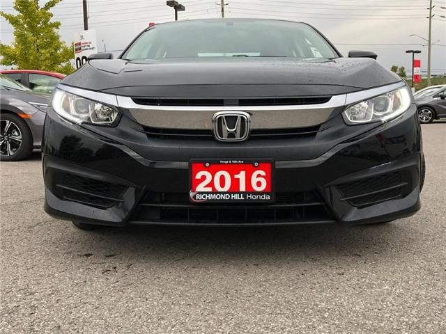 2016 Honda Civic LX (Stk: 2048P) in Richmond Hill - Image 2 of 18