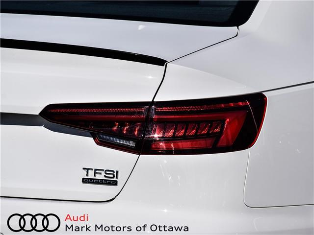 2018 Audi A4 2.0T Progressiv (Stk: 90449) in Nepean - Image 9 of 30