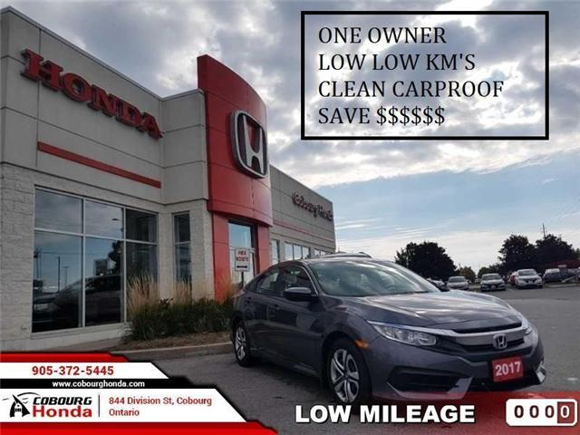 2017 Honda Civic LX (Stk: STK014676) in Cobourg - Image 1 of 8