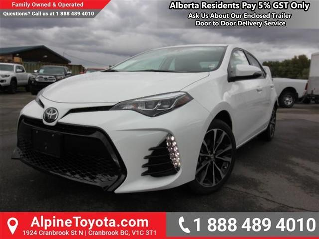 2019 Toyota Corolla SE Upgrade Package (Stk: C157607) in Cranbrook - Image 1 of 17