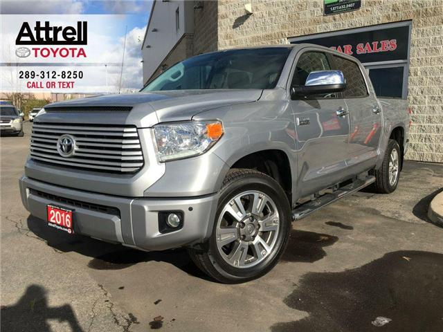 2016 Toyota Tundra EASTER SPECIAL PLATINUM CREWMAX LEATHER, SUNROOF,  (Stk: 40875A) in Brampton - Image 1 of 29